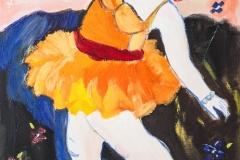Ballerina in an orange dress