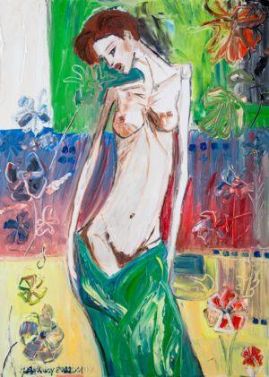 Woman in flower