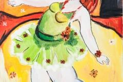 Balerina in a green dress