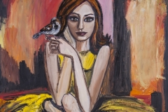 Lady with a sparrow